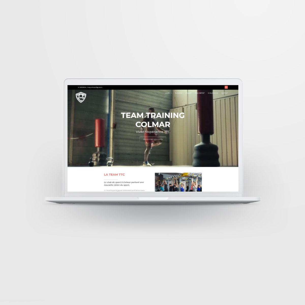 Team Training Colmar website